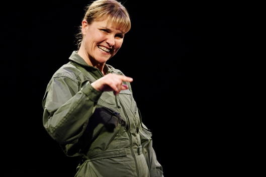 Kelly McAndrew as The Pilot. Photo: Kristi Jan Hoover, courtesy City Theatre