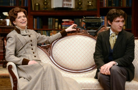 l to r: Gretchen Egolf and Jared McGuire; photo courtesy Pittsburgh Public Theater