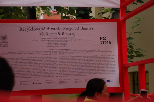 Recycled Theatre exhibit. Photo: M. Perdriel