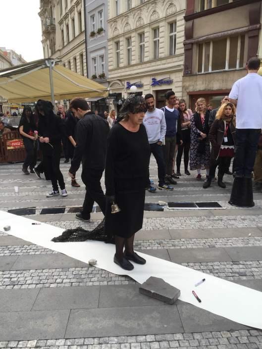 """Borrón y cuenta vieja"" RESAD 6/21/15, Jungmann Square Prague. Photo: Dani Kling-Joseph"