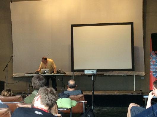 CMU Professor Joe Pino at PQ Sound Kitchen. Photo: Rachel Abrams